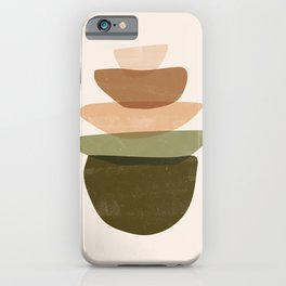 Stacked Shapes iPhone Case