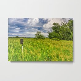 Little House in the Prairie Metal Print