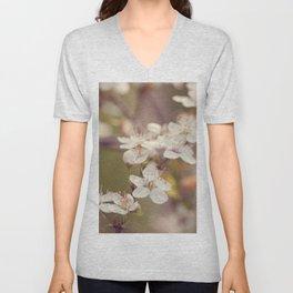 Blooming spring tree Unisex V-Neck