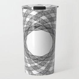 GEOMETRIC NATURE: HELIX w/b Travel Mug