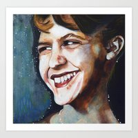 sylvia plath Art Prints featuring Sylvia Plath by Amy Wicherski