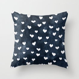 Denim Heart Throw Pillow