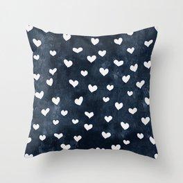 Denim Heart Throw Pillow