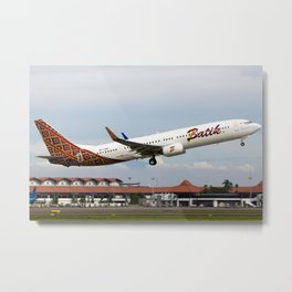 Batik Air: The New Airline from the Lion Air Group - Boeing 737-900ER - PK-LBM Metal Print