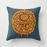 pi Throw Pillows featuring Apple Pi by Perdita
