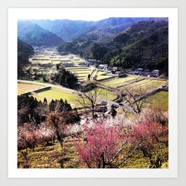 Tottori Countryside Art Print