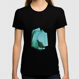 3D turquoise flying object  T-shirt