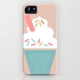 Ice Cream (Peach) iPhone Case