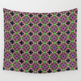 Gold Strands - Pink Wall Tapestry