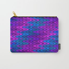 WAVY #2 (Purples, Violets & Turquoises) Carry-All Pouch