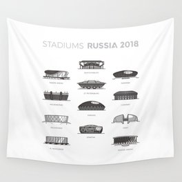 Stadium of Russia world cup 2018 Wall Tapestry