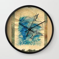 letter Wall Clocks featuring Letter by Irmak Akcadogan