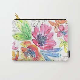 Vivid flowers medley Carry-All Pouch