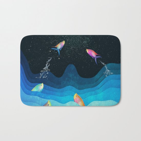 Come to reach the stars Bath Mat