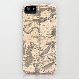 Constellation Chart 1856c iPhone Case