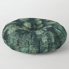 Forest from above - Landscape Photography Floor Pillow