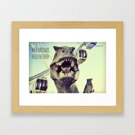 He might bite! Framed Art Print