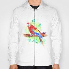 Watercolored Parrot Hoody