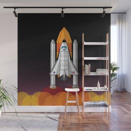Space Shuttle night launch Wall Mural
