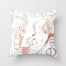 Lower Extremity Skeleton Throw Pillow