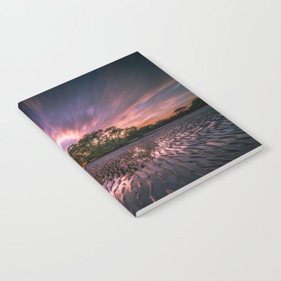 Landscape reflection 2 waves sky Notebook
