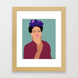 Frida Khalo Flat Graphic Modern Framed Art Print