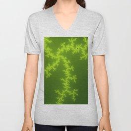 Green Fractal Unisex V-Neck