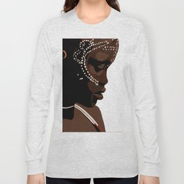 Mursi girl Long Sleeve T-shirt