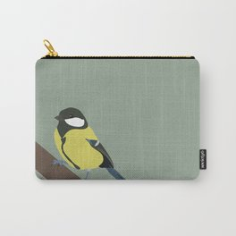 Great Tit (wide version Carry-All Pouch