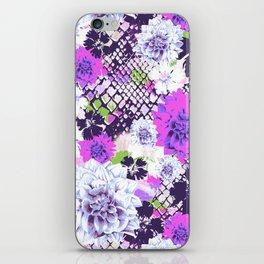 Croc Floral Goes Purple iPhone Skin