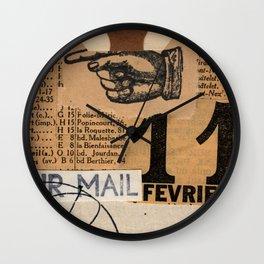 Air Mail Wall Clock