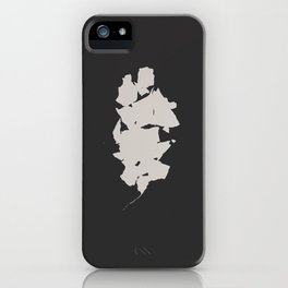 """Photogram of two leaves """"shattered"""" iPhone Case"""