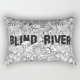 The Town (Black & White) Rectangular Pillow