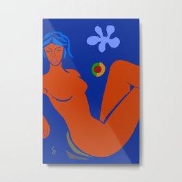 Woman's Silhouette Metal Print