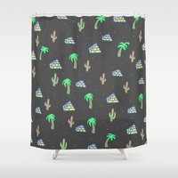 egyptian Shower Curtains featuring Egyptian Pyramids by Cale potts Art