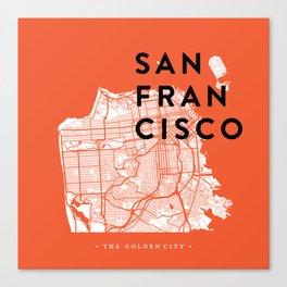 San Francisco Map 04 Canvas Print