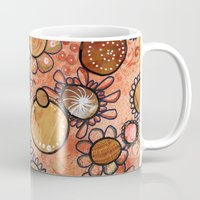 brown Mugs featuring brown by Kras Arts - Fly Me To The Moon