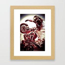 no handed circle wheelie Framed Art Print