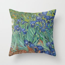 Irises by Vincent van Gogh Throw Pillow