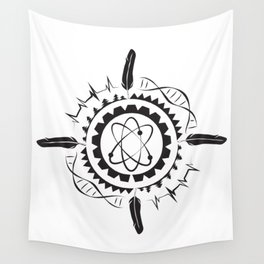 Native Stem Mandala Wall Tapestry