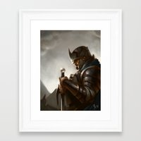 knight Framed Art Prints featuring knight by Michael B. Myers Jr.