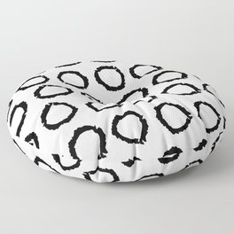 Classic vintage pattern with polka dot circles, texture grunge crayons ink Floor Pillow