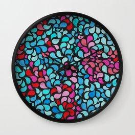 Bubblegum Raindrops Wall Clock