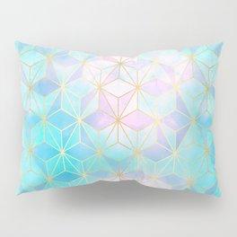 Iridescent Glass Geometric Pattern Pillow Sham