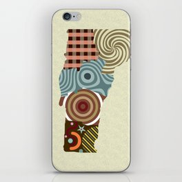 Vermont State Map iPhone Skin