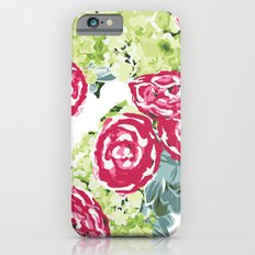 Peonies, Hydrangeas and Succulents iPhone 6 Slim Case
