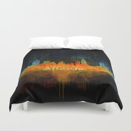 Atlanta City Skyline UHq v4 Duvet Cover