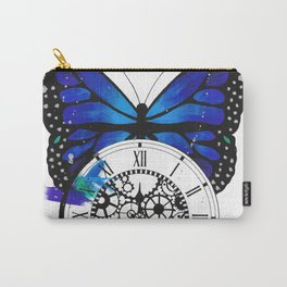 Butterfly Pocketwatch Painting Carry-All Pouch