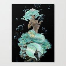 Mint Green Mermaid Canvas Print