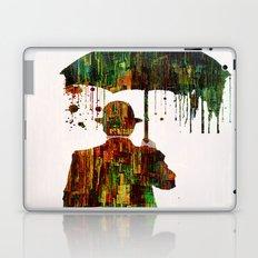 Rain in the abstract city Laptop & iPad Skin